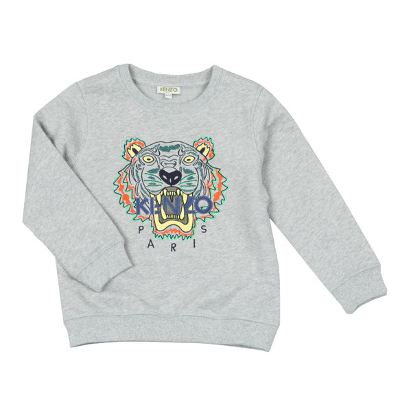 Kenzo Kids Boys Grey Embroidered Tiger Sweatshirt