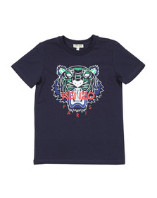 Kenzo Kids Boys Blue Boys Printed Tiger T Shirt