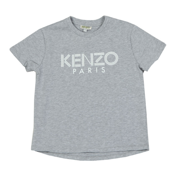 Kenzo Kids Boys Grey Logo T  Shirt main image