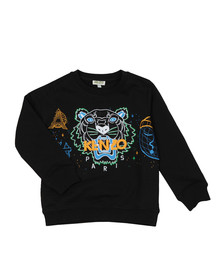 Kenzo Kids Boys Black Boys Multi Logo Tiger Sweatshirt