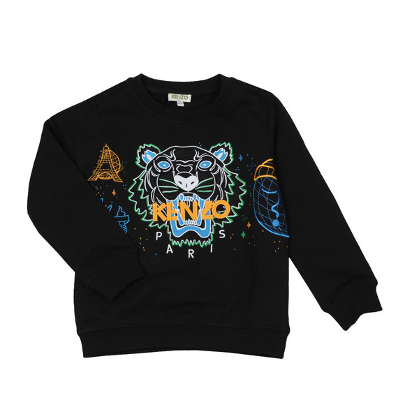 Kenzo Kids Boys Black Multi Logo Tiger Sweatshirt main image