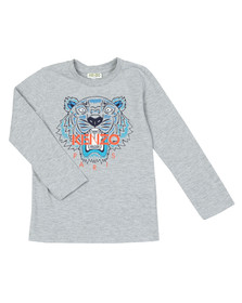 Kenzo Kids Boys Grey Boys Printed Tiger Long Sleeve T Shirt