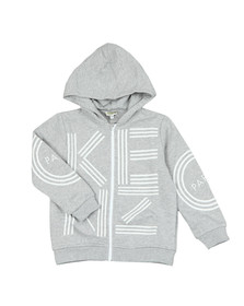 Kenzo Kids Boys Grey Boys Logo Full Zip Hoody