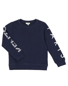 Kenzo Kids Boys Blue Boys Sleeve Logo Sweatshirt