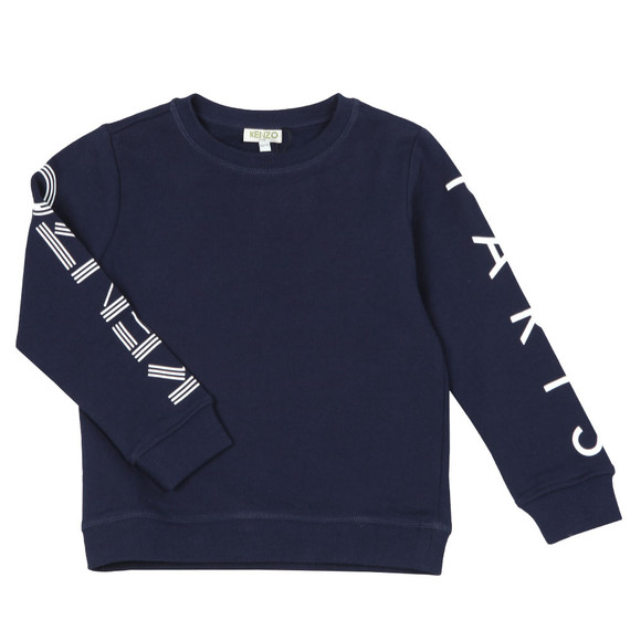 Kenzo Kids Boys Blue Boys Sleeve Logo Sweatshirt main image