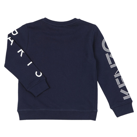 Kenzo Kids Boys Blue Sleeve Logo Sweatshirt main image