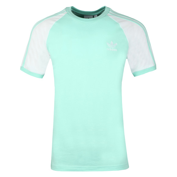 Adidas Originals Mens Green 3 Stripes Tee main image