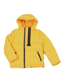 Kenzo Kids Boys Yellow Boys Down Jacket