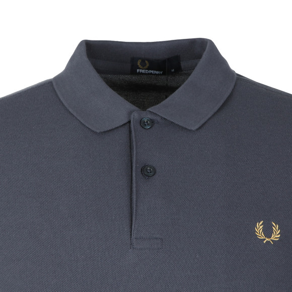 Fred Perry Mens Blue S/S Bold Cuff Polo main image