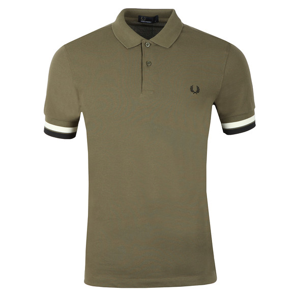 Fred Perry Mens Green S/S Bold Cuff Polo main image