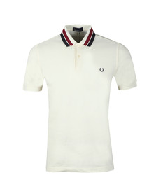 Fred Perry Mens Off-white S/S Bold Tipped Polo