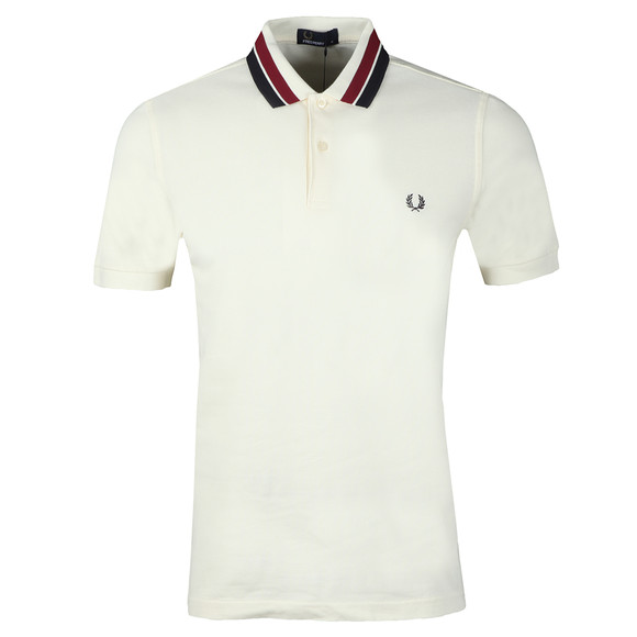 Fred Perry Mens Off-White S/S Bold Tipped Polo main image