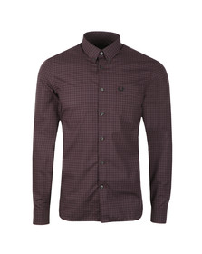 Fred Perry Mens Purple L/S 3 Colour Check Shirt