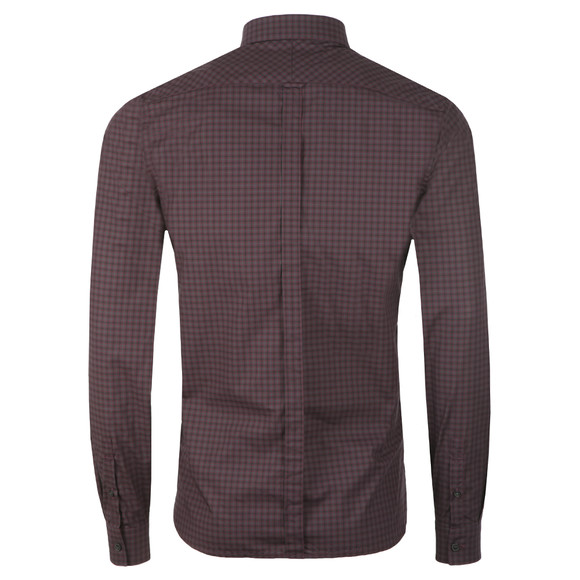 Fred Perry Mens Purple L/S 3 Colour Check Shirt main image