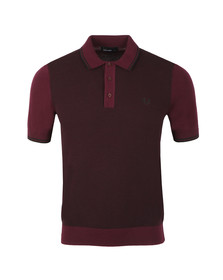 Fred Perry Mens Brown S/S Textured Polo
