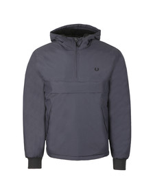 Fred Perry Mens Grey 1/2 Zip Hooded Brentham Jacket