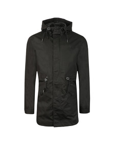 Fred Perry Mens Black Fishtail Parka