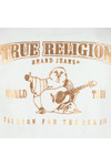 True Religion Mens Off-white Metallic Gold Buddha T Shirt