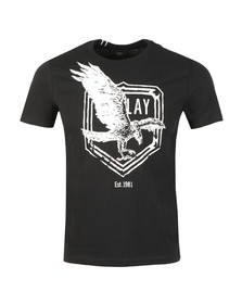 Replay Mens Black S/S Eagle Tee