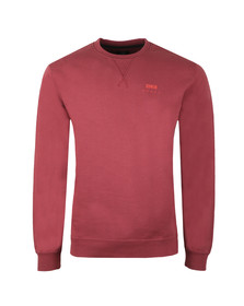 Edwin Mens Red Base Crew Sweatshirt