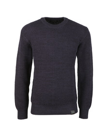 G-Star Mens Blue Jayvi Knitted Jumper