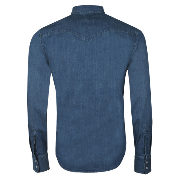 Levi's Mens Blue L/s Barstow Shirt main image