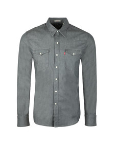 Levi's Mens Grey L/s Barstow Shirt