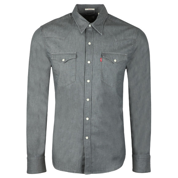 Levi's Mens Grey L/s Barstow Shirt main image