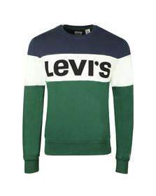Levi's Mens Green Graphic Crew Sweat