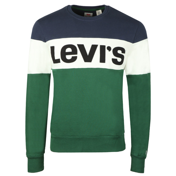 Levi's Mens Green Graphic Crew Sweat main image