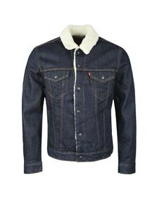 Levi's Mens Blue Sherpa Trucker Jacket
