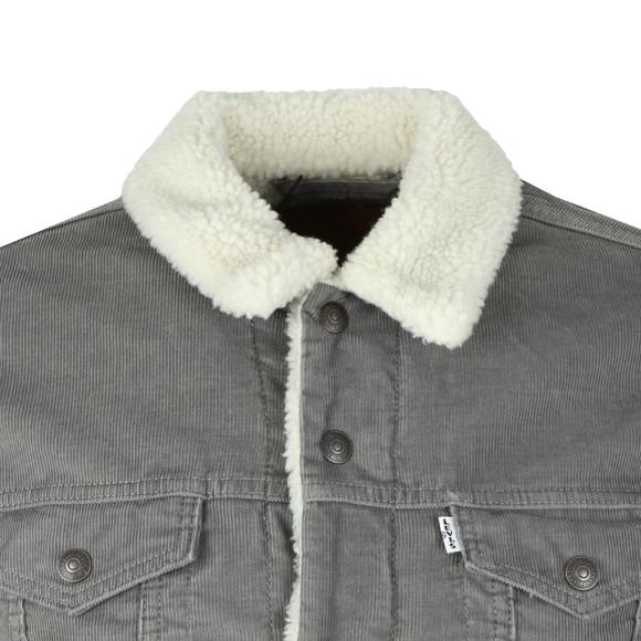Levi's Mens Grey 3 Type Sherpa Trucker Jacket main image