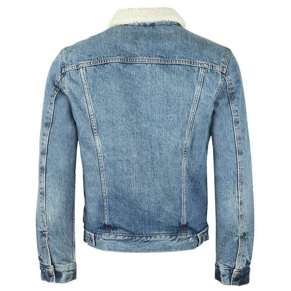 Levi's Mens Blue Sherpa Trucker Jacket main image