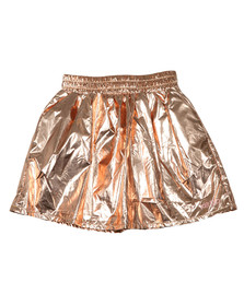 Kenzo Kids Girls Pink Cosmic Metallic Skirt