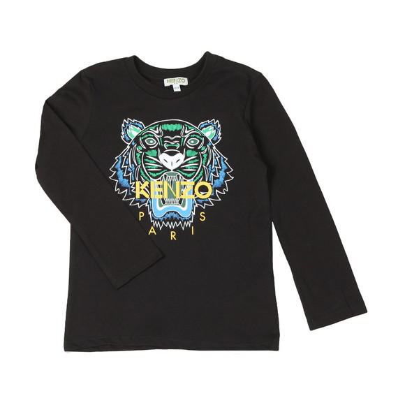 Kenzo Kids Boys Black Printed Tiger T Shirt main image