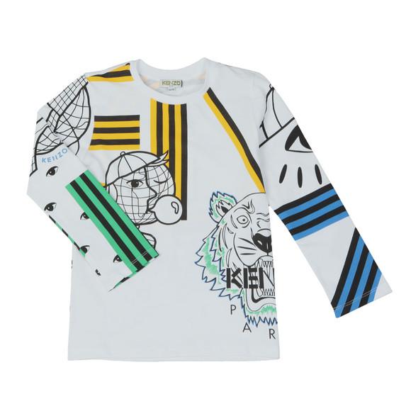 Kenzo Kids Boys White Cosmic Kenzo Long Sleeve T Shirt main image