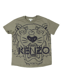 Kenzo Kids Boys Green Boys Large Tiger Printed T Shirt