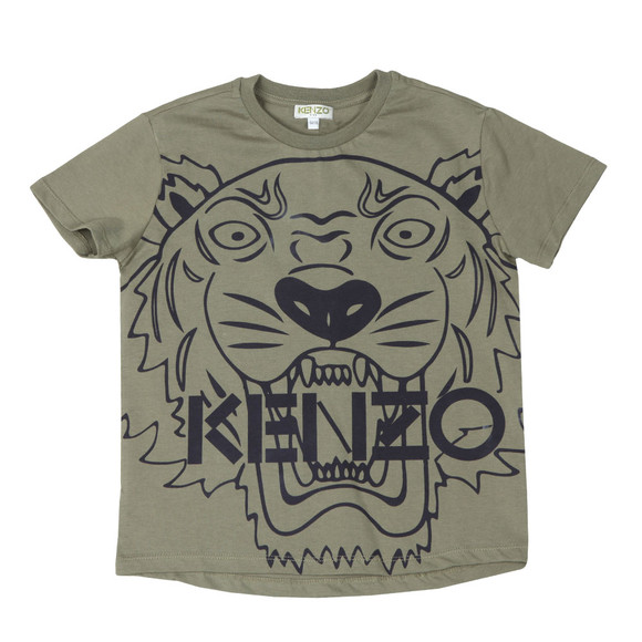 Kenzo Kids Boys Green Large Tiger Printed T Shirt main image