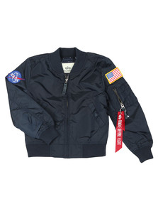 Alpha Industries Boys Blue Boys MA1 Nasa Bomber