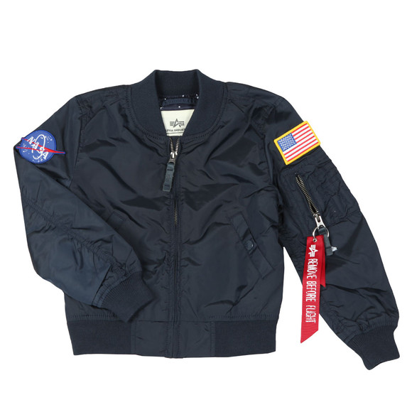 Alpha Industries Boys Blue Boys MA1 Nasa Bomber main image