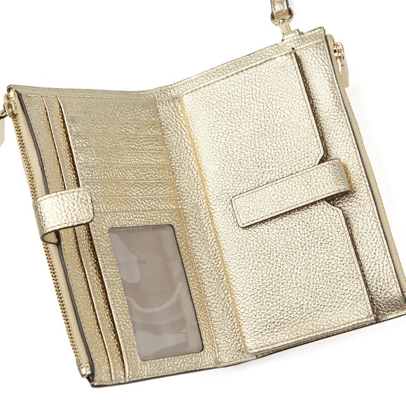 Michael Kors Womens Gold Double Zip Wristlet main image