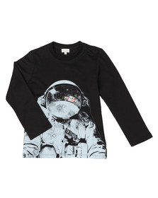 Paul Smith Junior Boys Black Steven Astronaut T Shirt