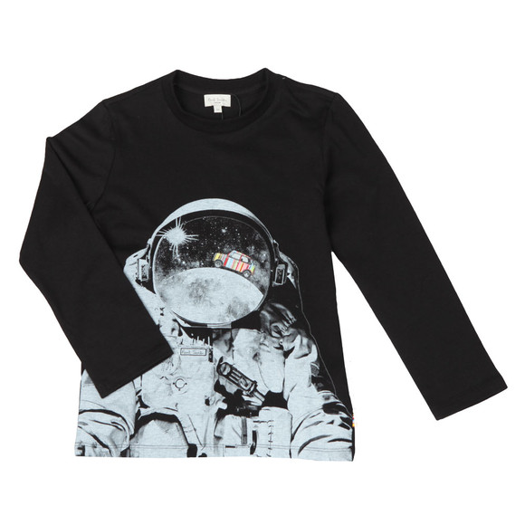 Paul Smith Junior Boys Black Steven Astronaut T Shirt main image