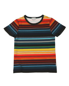 Paul Smith Junior Boys Blue Seth Multi Stripe T Shirt