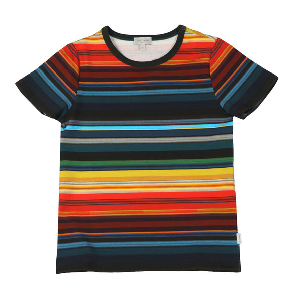 Paul Smith Junior Boys Multicoloured Seth Multi Stripe T Shirt main image