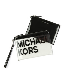 Michael Kors Womens Transparent Large Travel Pouch