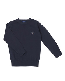 Gant Boys Blue TB Lightweight Cotton Crew Jumper