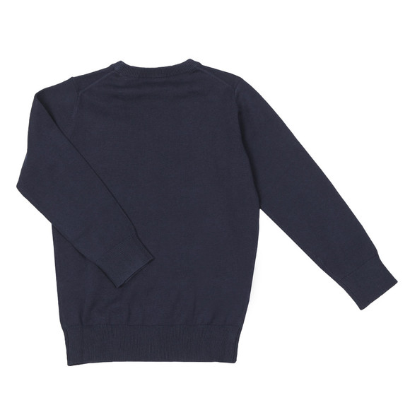 Gant Boys Blue TB Lightweight Cotton Crew Jumper main image
