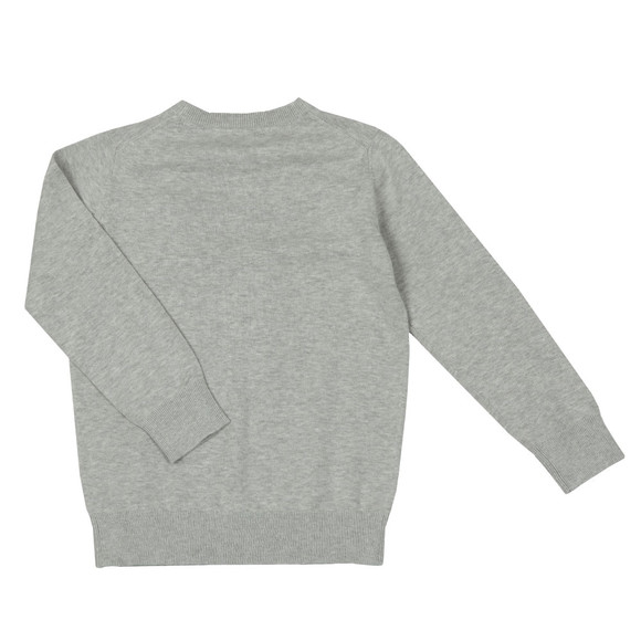 Gant Boys Grey TB Lightweight Cotton Crew Jumper main image