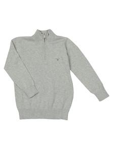 Gant Boys Grey TB Lightweight Cotton Half Zip